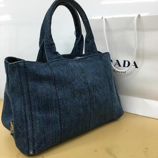 PRADA - 正規品 PRADA プラダ カナパ トートバッグ (正規紙袋、カード付き)