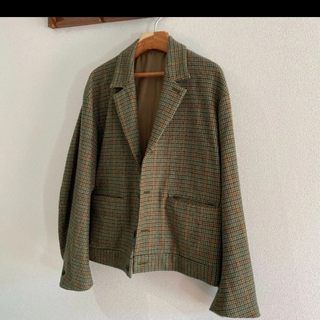 SUNSEA - URU 19aw WOOL CHECK SHORT JACKET 最終値下げ