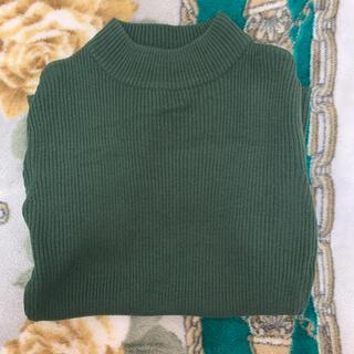 スピンズ(SPINNS)の半袖 ニット SPINNS スピンズ 緑 グリーン トップス(ニット/セーター)