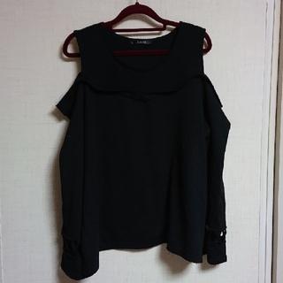袖がかわいい ニット 4L(ニット/セーター)