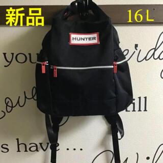 ハンター(HUNTER)のHUNTER リュック♦ブラック♦新品・タグ付き♦正規品♦16L♦黒♦ハンター(リュック/バックパック)