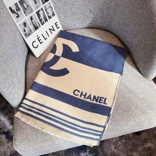 CHANEL - CHANELシャネルの模様のカシミヤのマフラー