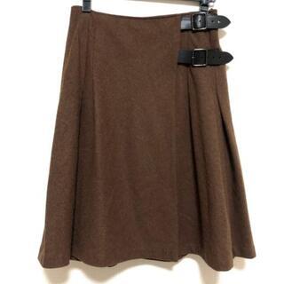 バーバリーブルーレーベル(BURBERRY BLUE LABEL)のバーバリーブルーレーベル 巻きスカート 38(その他)