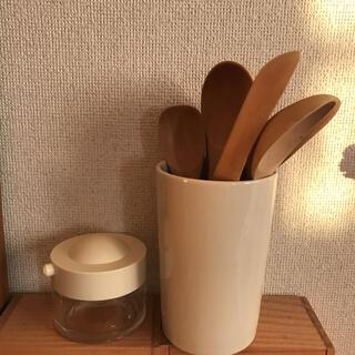 ムジルシリョウヒン(MUJI (無印良品))のカトラリースタンド 醤油さし 木製カトラリー(カトラリー/箸)