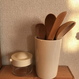 MUJI (無印良品) - カトラリースタンド 醤油さし 木製カトラリー