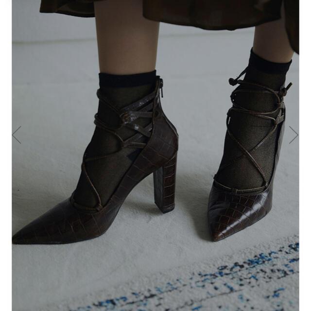 Ameri VINTAGE(アメリヴィンテージ)のZIGZAG LACE UP PUMPS レディースの靴/シューズ(ハイヒール/パンプス)の商品写真