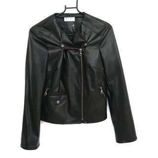 プラステ(PLST)のプラステ ライダースジャケット サイズM 黒(ライダースジャケット)