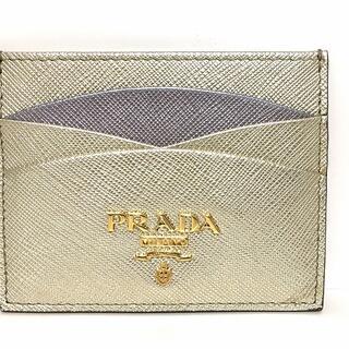プラダ(PRADA)のプラダ カードケース美品  - 1MC025 レザー(名刺入れ/定期入れ)