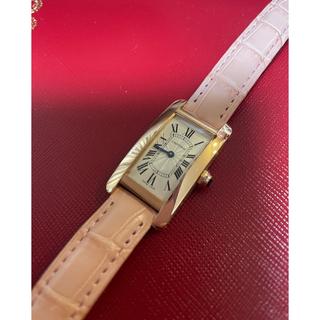 Cartier - カルティエ タンクアメリカンSM 18KPG 現行品 ギョーシェ文字盤