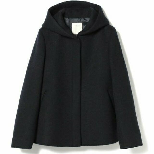 BEAMS(ビームス)のメルトンフード ショートコート レディースのジャケット/アウター(ピーコート)の商品写真
