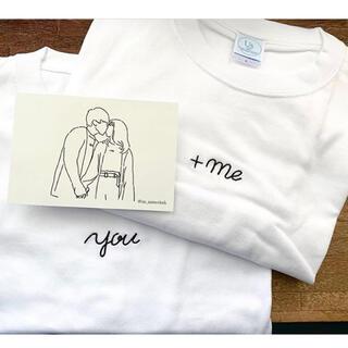 Us the same cloth カップルTシャツ you+me ペアルック