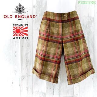 OLD ENGLAND - OLD ENGLAND ウールツイード総裏地チェックハーフパンツ 36 ショーツ