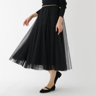 エージーバイアクアガール(AG by aquagirl)のチュールスカート ブラック(ロングスカート)
