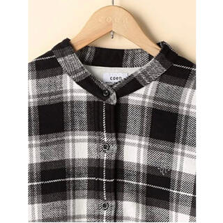 coen - 【新品未使用】coen 2way ウィンターコットンバンドカラーチェックシャツ