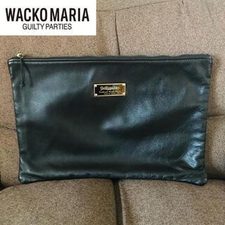ワコマリア(WACKO MARIA)のWACKO MARIA × PORTER クラッチバッグ レザー(セカンドバッグ/クラッチバッグ)