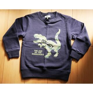 サンカンシオン(3can4on)の恐竜トレーナー 紺色★美品(Tシャツ/カットソー)