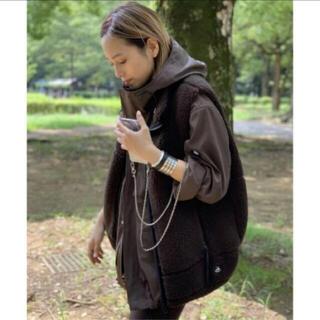 L'Appartement DEUXIEME CLASSE - AP STUDIO 【yeti/イエティ】別注ウールボアベスト ブラウン