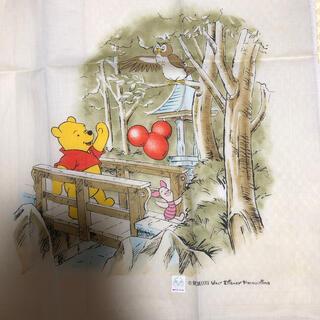 ディズニー(Disney)の新品 レア ハンカチ 東京ディズニーランド プーさん 綿100 レトロ(ハンカチ)