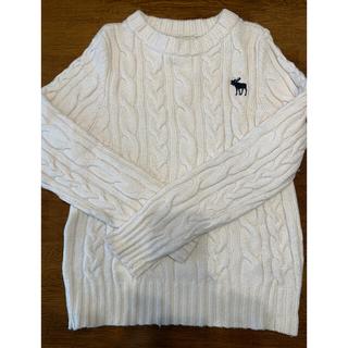 アバクロンビーアンドフィッチ(Abercrombie&Fitch)のアバクロセーター白 USサイズS(ニット/セーター)