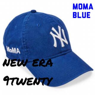 モマ(MOMA)の【新品未使用】moma new era NY yankees cap 青 ブルー(キャップ)