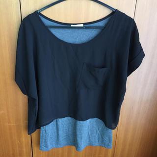 ジーユー(GU)のGUのトップス(シャツ/ブラウス(半袖/袖なし))