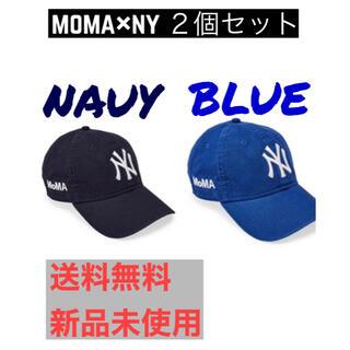 モマ(MOMA)の2個セット 紺 青 新品 moma new era NY yankees cap(キャップ)
