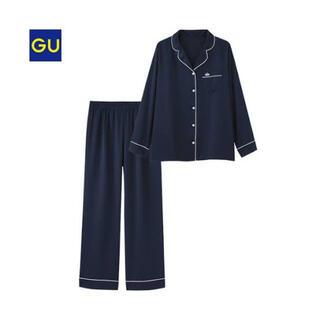 GU - GU サテン パジャマ ネイビー