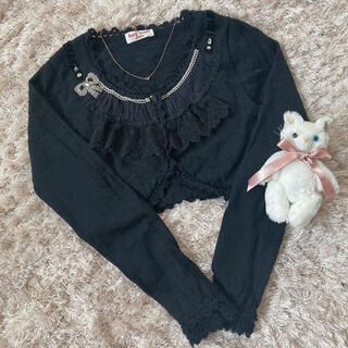 エミリーテンプルキュート(Emily Temple cute)の今週限定 black ribbon tops(カーディガン)