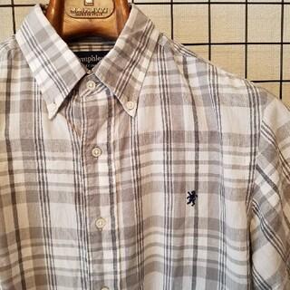 ジムフレックス(GYMPHLEX)の17SS 日本製 GYMPHLEX グレー チェック柄 ボタンダウン半袖シャツ(シャツ)