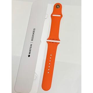 Apple Watch - Apple Watch HERMES 限定 オレンジ スポーツバンド 40mm