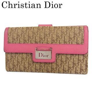 クリスチャンディオール(Christian Dior)のディオール ロゴ トロッター キャンバス×レザー Wホック 二つ折り 長財布(財布)