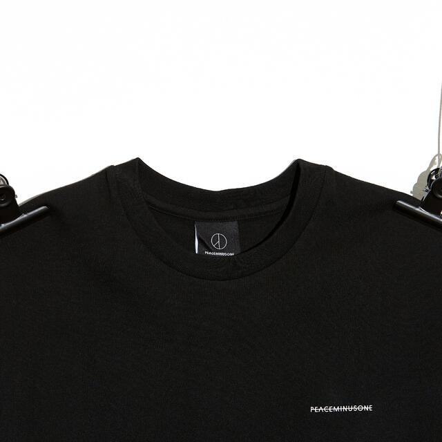 PEACEMINUSONE(ピースマイナスワン)のpeaceminusone PMO COTTON T-SHIRT#1 BLACK メンズのトップス(Tシャツ/カットソー(半袖/袖なし))の商品写真