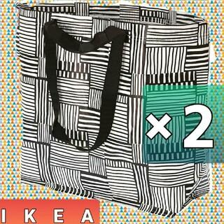IKEA - IKEA フィスラ♪Mサイズ♪2枚セット エコバッグ イケア ショッピングバック