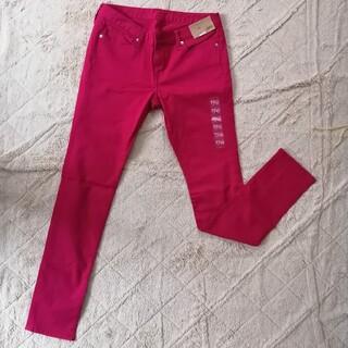 ジーユー(GU)のGU スキニーパンツ カラーパンツ ピンク XLサイズ 大きいサイズ(スキニーパンツ)