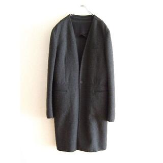 ジバンシィ(GIVENCHY)のGIVENCHY PARIS ジバンシィ ノーカラー コート チェスターコート(チェスターコート)