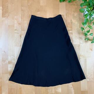 アニエスベー(agnes b.)のagnis b. アニエスベー ブラックスカート 36サイズ 黒(ロングスカート)