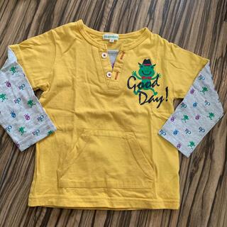 サンカンシオン(3can4on)の3can4on カエル ロンT キャラクター 100 キッズ ベビー(Tシャツ/カットソー)