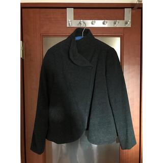 ムジルシリョウヒン(MUJI (無印良品))のノーカラージャケット ショートコート 良品計画 無印 無印良品 1つボタン(その他)