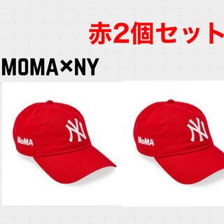 モマ(MOMA)の【新品未使用】moma new era NY yankees cap red 赤(キャップ)