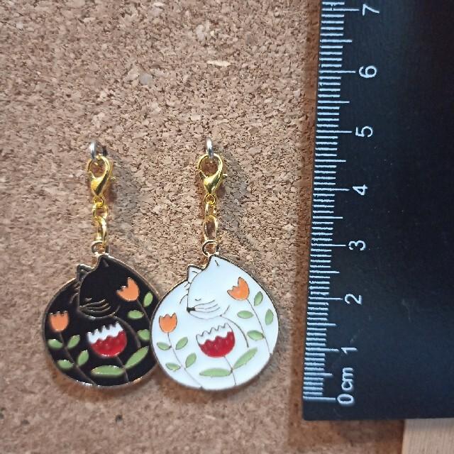 マスクチャーム ネコ☆35☆ 猫 ファスナーチャーム 同梱200円引き☆ ハンドメイドのアクセサリー(チャーム)の商品写真