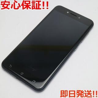 エイスース(ASUS)の美品 SIMフリー ZenFone Live ZB501KL ブラック 白ロム(スマートフォン本体)