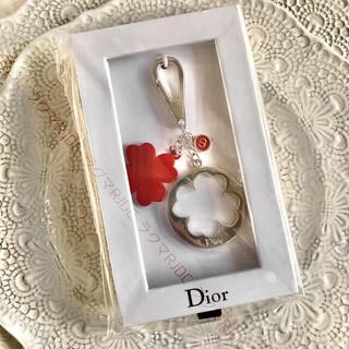 Dior - 【新品未開封】国外限定 レッドクローバー ショー成功の幸運の源 キーホルダー