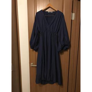 ZARA - 美品!着用3回 ザラ ZARA バルーン袖 絞り ワンピース