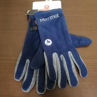 マーモット(MARMOT)の【新品】Marmot Fleece Glove Sサイズ ネイビー(登山用品)
