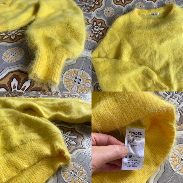 snidel(スナイデル)のスナイデル イエロー アンゴラ ニット レディースのトップス(ニット/セーター)の商品写真