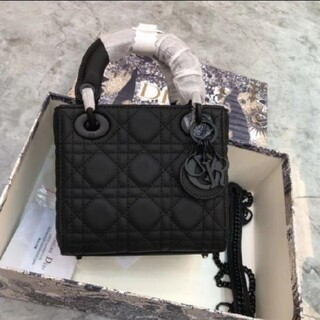 Christian Dior - Christian Dior Lady ブラック ハンドバッグ