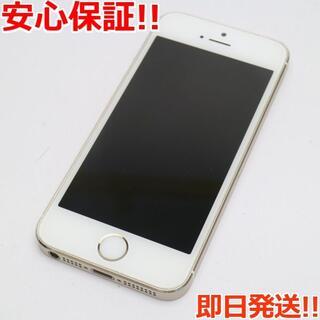 アイフォーン(iPhone)の美品 au iPhone5s 32GB ゴールド 白ロム(スマートフォン本体)