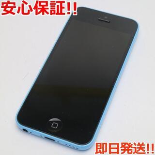 アイフォーン(iPhone)の美品 au iPhone5c 16GB ブルー 白ロム(スマートフォン本体)