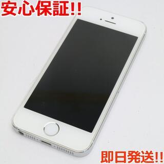 アイフォーン(iPhone)の美品 DoCoMo iPhone5s 32GB シルバー 白ロム(スマートフォン本体)