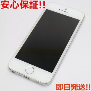 アイフォーン(iPhone)の美品 au iPhone5s 16GB シルバー 白ロム(スマートフォン本体)